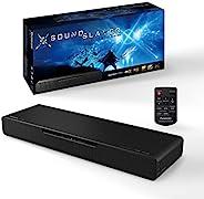 Panasonic 松下 SC-HTB01EG 2.1 游戏音响条,带内置低音炮(Dolby Atmos,DTS:X,蓝牙,HDMI,80瓦RMS)黑色