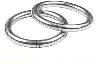 Broadsheet 10 件不锈钢 316 圆环焊接,1.28 cm x 3.81 cm 海洋级 O - 环,提升钢环拉环 O 型环钓鱼网环