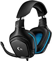 Logitech 罗技 G432 有线游戏耳机,7.1环绕声,DTS 耳机:X 2.0,50 毫米音频驱动器,USB 和 3.5 毫米音频插孔,翻转静音麦克风,轻质,PC/Mac/Xbox One/PS4/Nintend