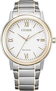 Citizen 西铁城 男式模拟光动能手表不锈钢表带 AW1676-86A