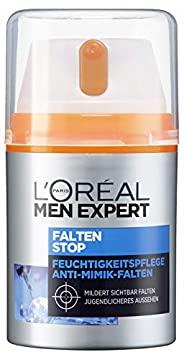 L'Oréal Paris 巴黎欧莱雅 男士专家 抗皱保湿深度锁龄面霜 有效对抗细小皱纹和黑眼圈,1瓶装/