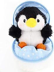 Plushland 雪球填充拉链动物可爱毛绒动物分类软玩具适合女朋友、家人和朋友(新企鹅)