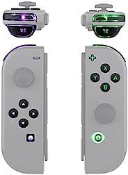 eXtremeRate 多色发光 ABXY 触发器脸部按钮 DFS LED 套件适用于任天堂 Switch Joy-Con控制器,带经典符号按钮 - 7 种颜色 9 种模式按钮控制 - 不包括 Joycon