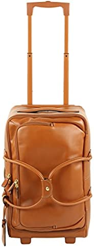 Bric's Luggage Life Pelle 21 Inch Carry On Rolling Duffle 法國白蘭