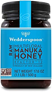 Wedderspoon Raw Premium Kfactor 12 Manuka Honey, 17.6 Ounce