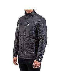 Spyder 男式 Glissade 混合绝缘夹克 - 男式全拉链户外保暖服装