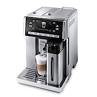 De'Longhi 德龙 PrimaDonna ESAM 6900.M 全自动咖啡机 带有牛奶系统,一键可选Cappuccino/Espresso,4.6寸(约11.68cm)TFT彩色显示屏,巧克力热饮功能,不锈钢机壳,银色