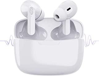 无线耳塞蓝牙 5.1 耳机带充电盒降噪 3D 立体声耳机内置麦克风耳塞弹出 自动配对耳机适用于 iPhone/Android/Apple AirPods Pro