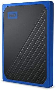 Western Digital 1TB My Passport Go SSD 钴蓝色 便携式外部存储,USB 3.0-WDBMCG0010BBT-WESN