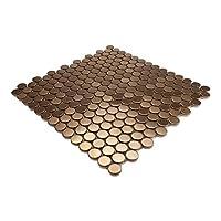 Giorbello 旅行系列铜木屋瓷砖,不锈钢(1/4 瓷砖(样品))