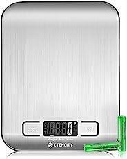 Etekcity 食品厨房秤,数字克和盎司,用于减重,烘烤,烹饪,生酮和膳食准备,小号,304 不锈钢