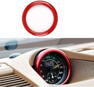NeeYos 奢华哑光红色仪表板铝徽章贴纸适用于 911 卡宴拳击手Macan Panamera等