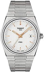 Tissot 天梭 男式 PRX 316L 不锈钢表壳正装手表 灰色 T1374101103100