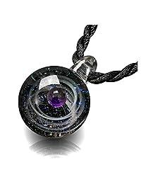 Top Plaza 时尚玻璃项链珠宝宇宙银河星云宇宙玻璃球吊坠独特的特殊生日圣诞礼物送给女士女孩 Single Glass Bead #4