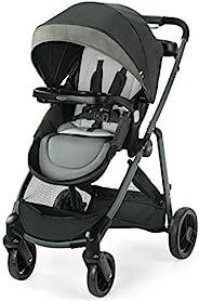 Graco 葛莱 Modes Element LX 婴儿车 | 带可翻转座椅的婴儿车,额外存储,儿童托盘,单手折叠,Tenley