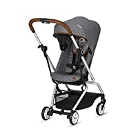CYBEX Gold Eezy S Twist Compact Pushchair, 360° Rotatable Seat Unit, Ultra-Compact, From Birth to 17 kg (approx. 4 years), Silver Anodised Frame, Denim Collection, Manhattan Grey
