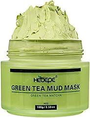 绿色茶 Matcha Mud 面具,芦荟 100g,深孔清洁面部和身体*面膜,天然深*清洁面具,有瑕疵,黑头和*