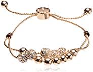 GUESS 女式双排圆形串珠和火球滑块手链
