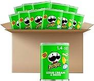 Pringles 薯片,酸奶油洋葱味 咸味零食,每件1.4 盎司(约39.69克)罐装(12 件装)