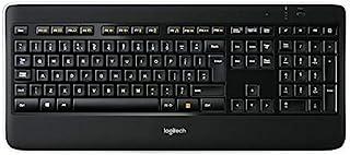 Logitech 无线照明键盘 K800(English Layout 英语版本 QWERTY布局)