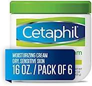 Cetaphil 丝塔芙 保湿霜 适用于干燥/敏感性皮肤,无香料 16 盎司 16 oz (Pack of 6)