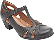 Rockport Brynn T 型绑带女士高跟鞋 黑色 6.5 M 码