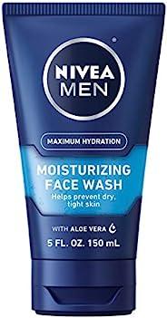NIVEA 妮维雅 Maximum Hydration 男士保湿补水洗面奶-帮助防止皮肤干燥,恢复紧致-5盎司/管(约141.75克),150毫升