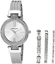 Anne Klein 安妮克莱恩 女士施华洛世奇水晶点缀手表和手链套装 AK/3584