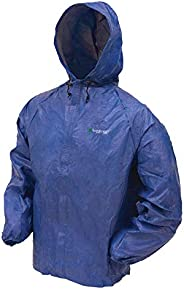 Frogg Toggs 男士超轻 Lite2 防水防雨夹克,蓝色,M 码