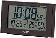 Seiko 精工 台式时钟 02:黑色 主体尺寸:8.5×14.8×5.3厘米 电波 数码 万年历功能 显示舒适度&温度&湿