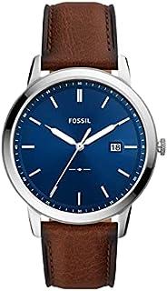 Fossil 极简主义太阳能三指针日期皮革手表 FS5839