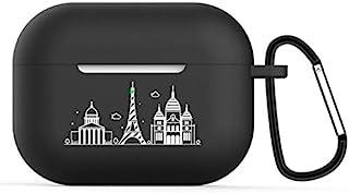 Josi Minea 充电保护壳 保护套 带趣味图片 & 钥匙扣 兼容新款苹果 AirPods Pro Paris