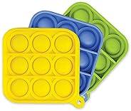 FoxMind Games Go Pop! 迷你四轮 -3 件装 -黄色,蓝色,*