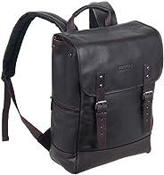 Kenneth Cole REACTION 哥伦比亚皮革单角撑襟翼电脑背包 14.1 寸(约 35.8 厘米) 棕色 均码