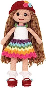 可爱的女孩手工填充洋娃娃,柔软毛绒娃娃。**复古手工游戏。送礼佳品,自然发,女孩抹布娃娃,女孩仙女娃娃,娃娃,栩栩如生(Layla)