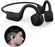 Bone 传导耳机适用于游泳 IPX8 防水开耳 8GB MP3 音乐播放器无线运动耳机内置降噪麦克风,适用于跑步潜水水上骑行慢跑