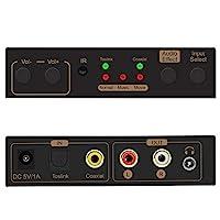 U9 ViewHD *新 192KHz DAC 立体声数字模拟音频转换器,带输出音量调节和遥控 Toslink 光学/同轴至 RCA L/R 3.5 毫米 | 型号:U9D2AC