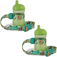 PBnJ Baby SippyPal 鸭嘴杯架带绳系绳(沙滩两件装) 丛林