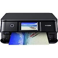 Epson 爱普生 Expression Photo XP-8600 三合一多功能喷墨打印机(扫描仪,复印机,WLAN,双面,10.9厘米触摸屏,单墨盒,6色,A4),黑色