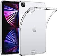HBorna 透明保护套适用于 iPad Pro 12.9 英寸 2021 * 5 代,支持苹果铅笔*二代充电,超薄轻质硅胶后盖,适用于 iPad Pro 12.9 * 5 代