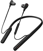 Sony 索尼 WI-1000XM2具有麦克风的行业领先的降噪入耳式耳机,灵活的颈圈式耳机,可快速充电,长达10小时的电池寿命,高分辨率音频,与Alexa兼容-黑色