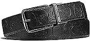 宽幅签名皮革可逆腰带 按尺寸切割 F55157 黑色