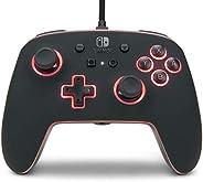 PowerA Spectra 增强型有线控制器,适用于 Nintendo Switch 、游戏手柄、有线视频游戏控制器、游戏控制器、官方*、发光控制器 - Nintendo Switch