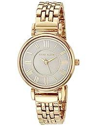 Anne Klein 女士手链手表,金色/灰色,均码