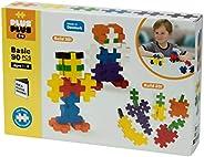 PLUS PLUS BIG - 开放式游戏套装 - 90件 基本款颜色混装 建造建筑物Stem玩具,互锁大型拼图块,适合幼儿和学龄前儿童