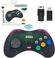 retro-bit SEGA Saturn® 8-Button Arcade Pad 2.4GHz Wireless State Grey 复古刀 世嘉 希腊® 8键 安装垫 2.4GHz 无线 控制器 步进灰色