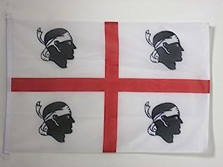 AZ FLAG Sardinia 旗帜 3 英尺 x 5 英尺 外部使用 - 意大利 - 萨丁尼国旗 90 x 150 cm - 横幅 3x5 英尺针织涤纶戒指