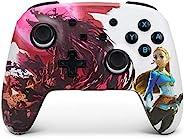 PowerA 增强无线控制器 适用于 Nintendo Switch - Blood Moon Zelda、Nintendo Switch Lite 、游戏手柄、蓝牙控制器、可充电 - Nintendo Switch