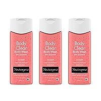 Neutrogena 露得清 Body Clear水楊酸沐浴露 粉紅葡萄柚 8.5盎司/250ml*3 (3瓶裝)