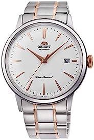 ORIENT 东方双狮手表自动机械式自动上链(附带手动上链)海外款 RA-AC0004S 男士 银色